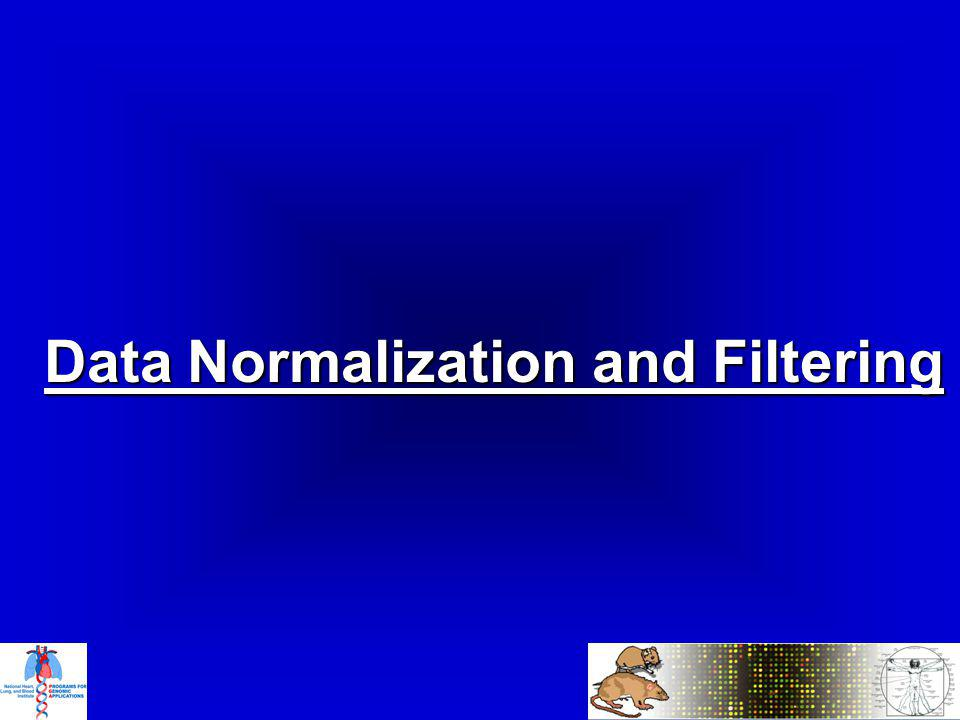 Data Normalization and Filtering