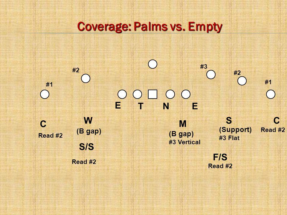C E C Read #2 M WS NTE #2 #1 #3 F/S S/S (B gap) (Support) #3 Flat (B gap) #3 Vertical Coverage: Palms vs.