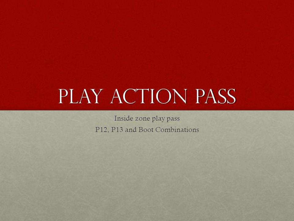 Play Action Pass Inside zone play pass P12, P13 and Boot Combinations