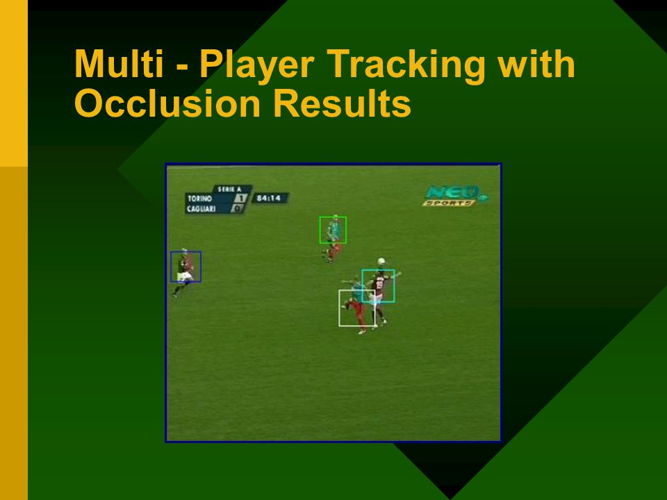 Multi - Player Tracking with Occlusion Results