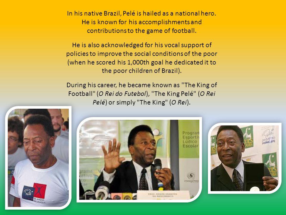 Early years Pelé was born in Três Corações, Minas Gerais, Brazil, the son of Fluminense footballer Dondinho and Dona Celeste Arantes.
