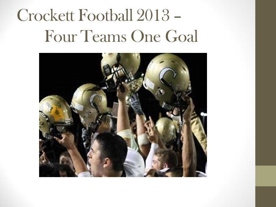 Crockett Football 2013 – Four Teams One Goal