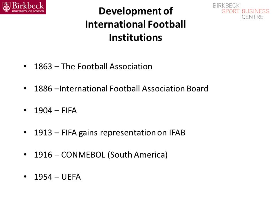 The International Football Association Board (IFAB) (8) Summary In summary, the effective governance and custodianship of the Laws of the Game by IFAB has played a critical role in the successful development of football as the pre-eminent global sport, and the way this governance role is managed has significant commercial implications.