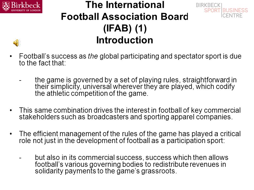 The International Football Association Board (IFAB)