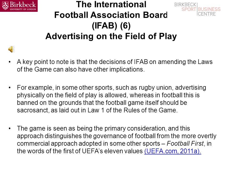 The International Football Association Board (IFAB) (6) Goal Line Technology Sepp Blatters Assessment