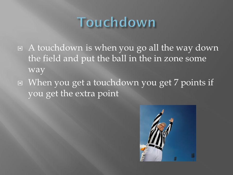 A field goal is for a fourth down across the 50 yard line It is for an extra point after you score a touchdown You kick a field goal