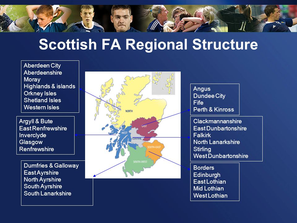 Scottish FA Regional Structure SFA Regional Manager SFA Girls & Womens Football Development Officer Office & Events Coordinator Local Authority Football Development Staff SFA Player & Volunteer Development Officer SFA Club Development Manager Football Development