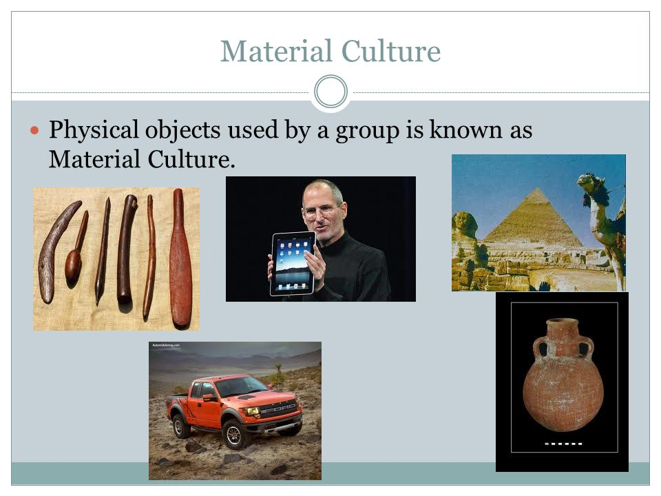 Non-Material Culture Abstract human creations form the Non- Material Culture.