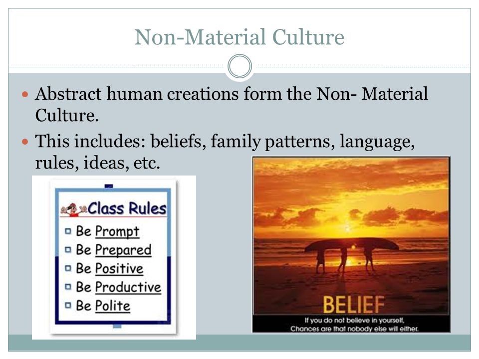 Cultural Patterns The combination of various cultural complexes (i.e.