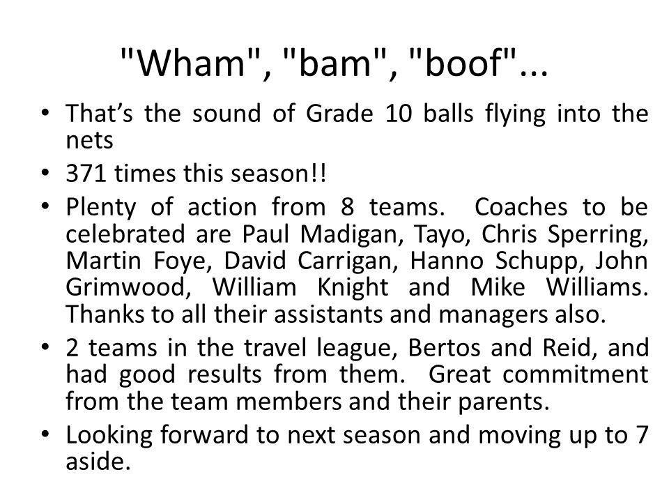 Wham , bam , boof ...