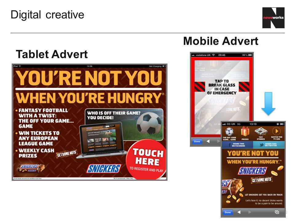 12 Digital creative Tablet Advert Mobile Advert