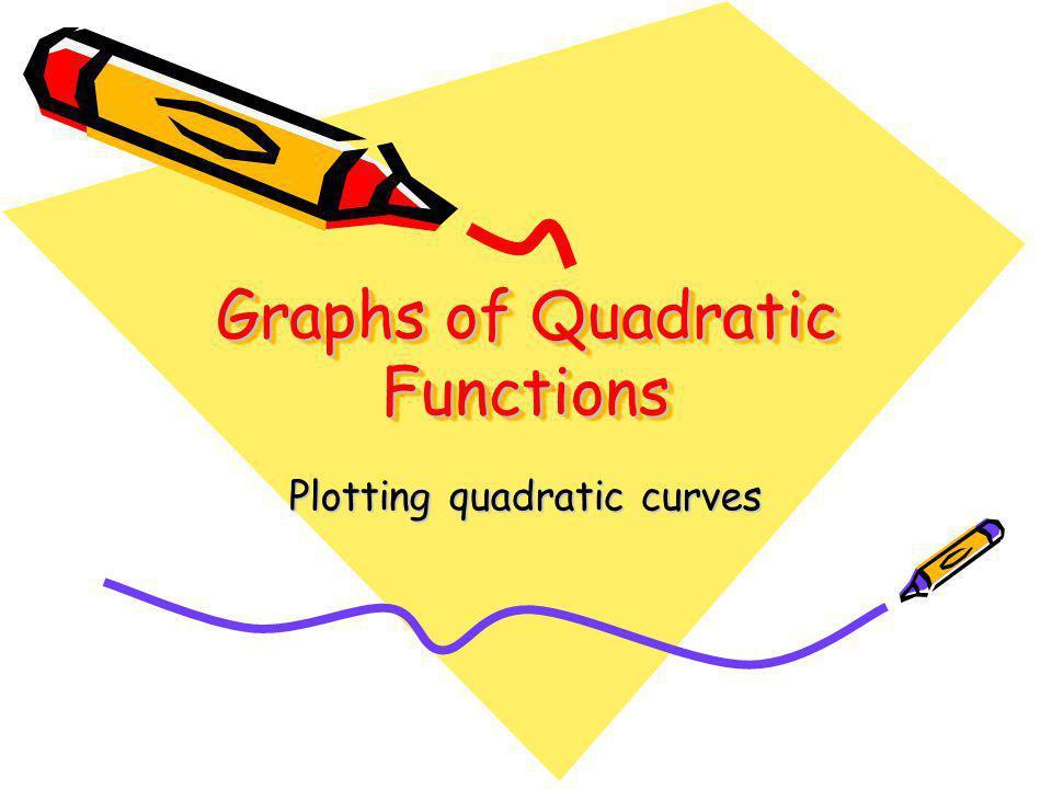 Graphs of Quadratic Functions Plotting quadratic curves