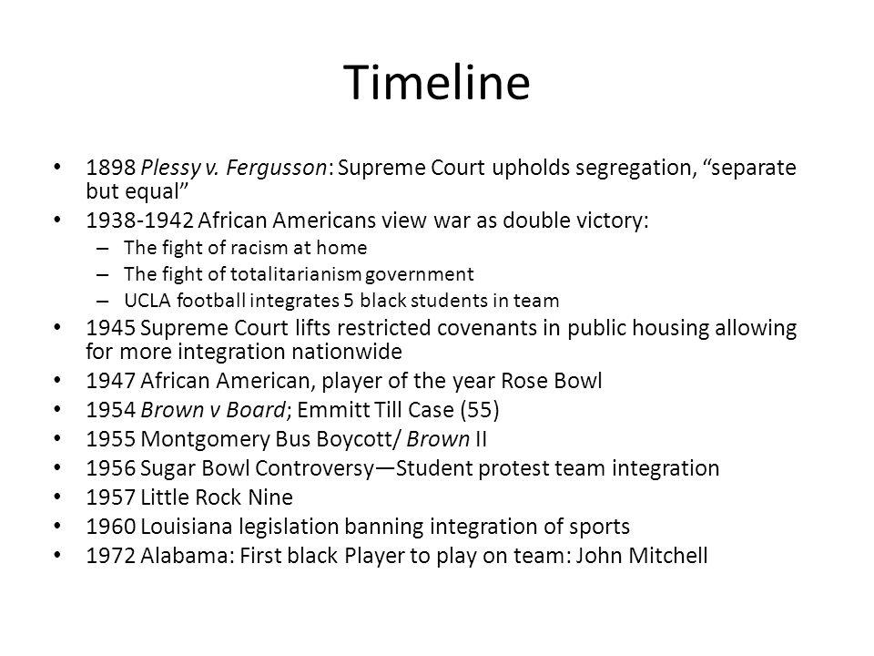 Timeline 1898 Plessy v.