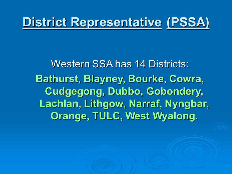 Western SSA Sports Primary:AthleticsBasketballCricket Cross Country FootballGolfHockeyNetball Rugby League Rugby Union SoftballSwimmingTennisTouchSecondary:AthleticsBasketballCricket Cross Country FootballGolfHockey Lawn Bowls Netball Rugby League Rugby Union SoftballSquashSwimmingTennisTouchVolleyball
