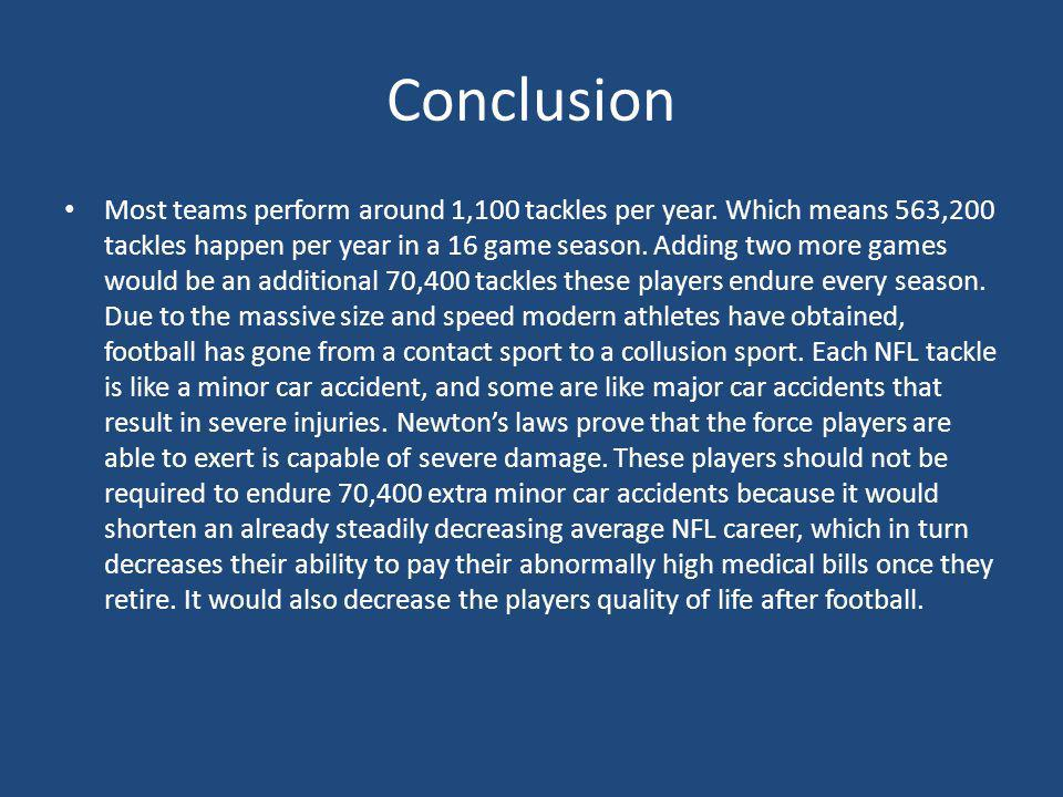 Conclusion Most teams perform around 1,100 tackles per year.