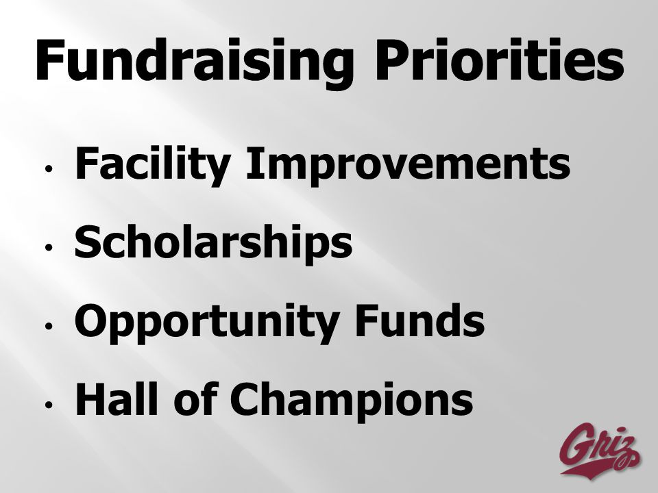 Facility Improvements Scholarships Opportunity Funds Hall of Champions