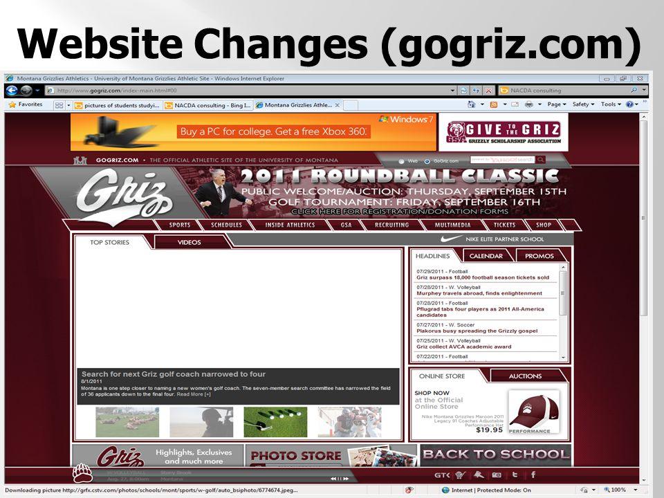 Website Changes (gogriz.com)