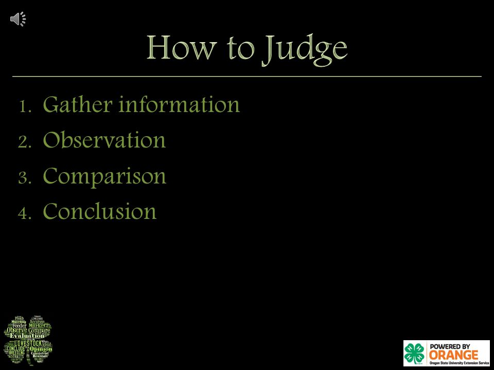 1. Gather information 2. Observation 3. Comparison 4. Conclusion