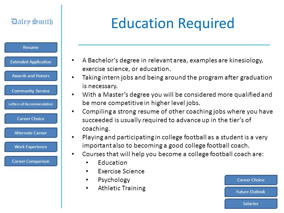 Future Outlook The future job outlook for Coaching is very promising: Nationally, through the year 2010 coaching job rates are supposed to raise by 24.8%.