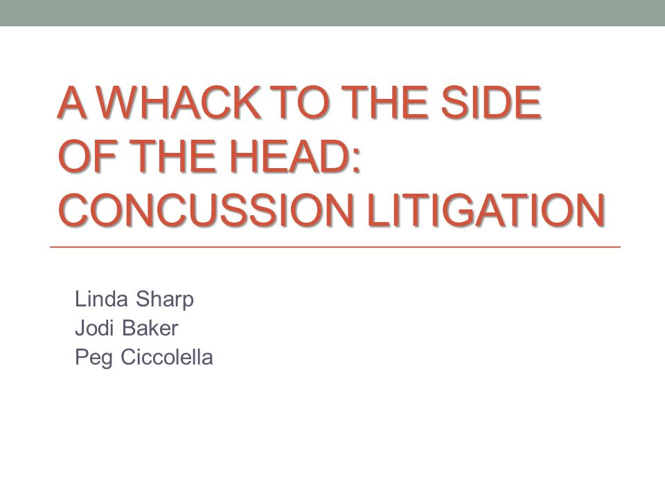 Main Aspects of the Presentation The Science Regarding Concussions What do we know now.