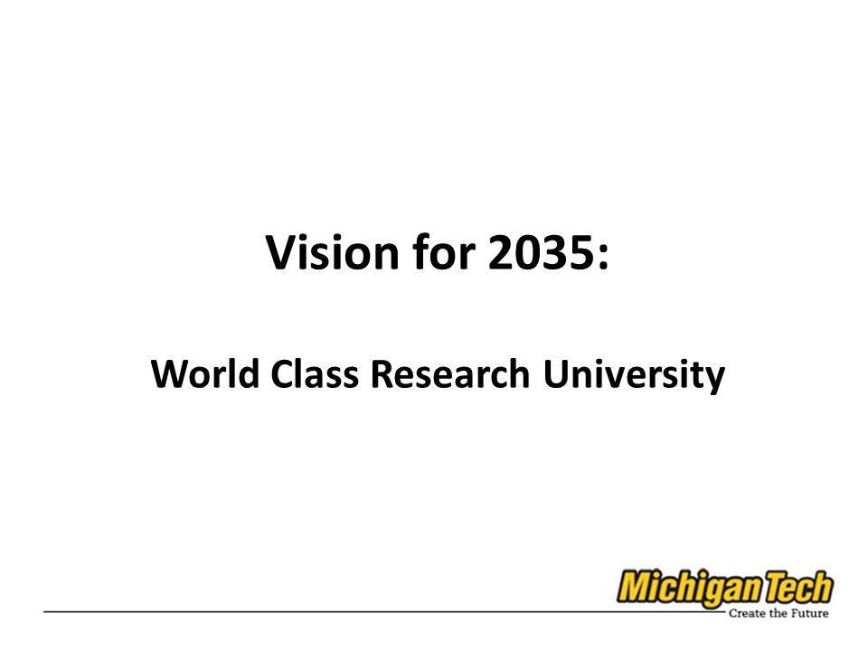Vision for 2035: World Class Research University
