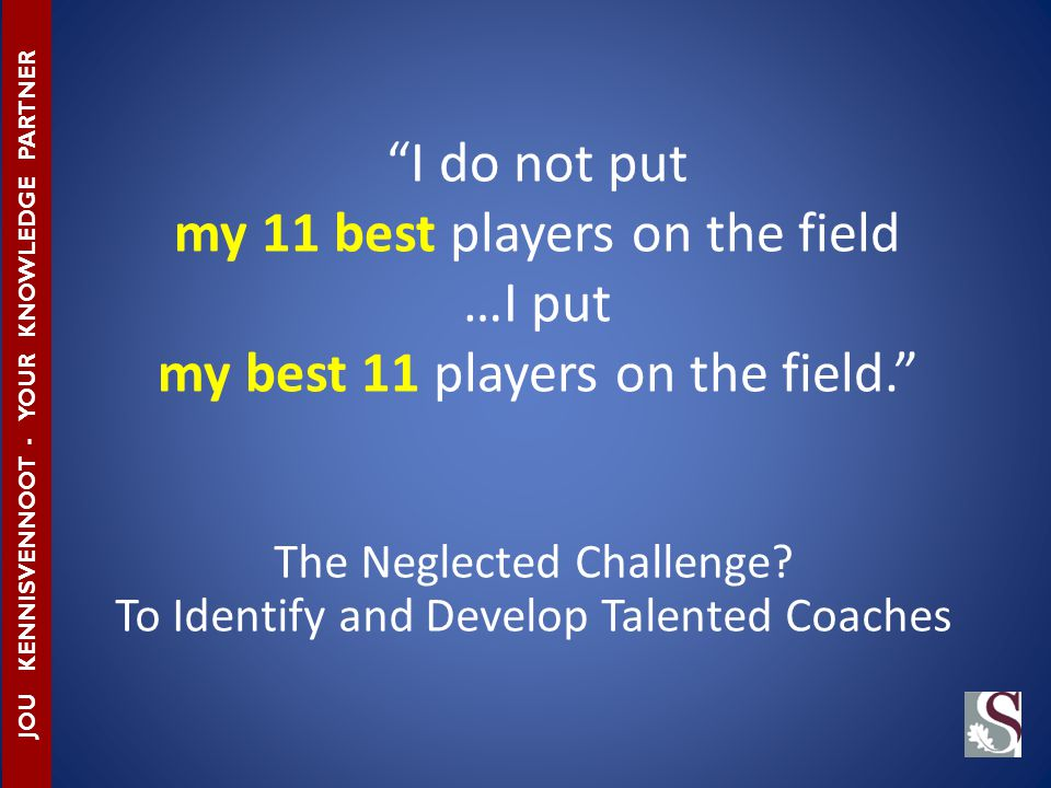 The Neglected Challenge.