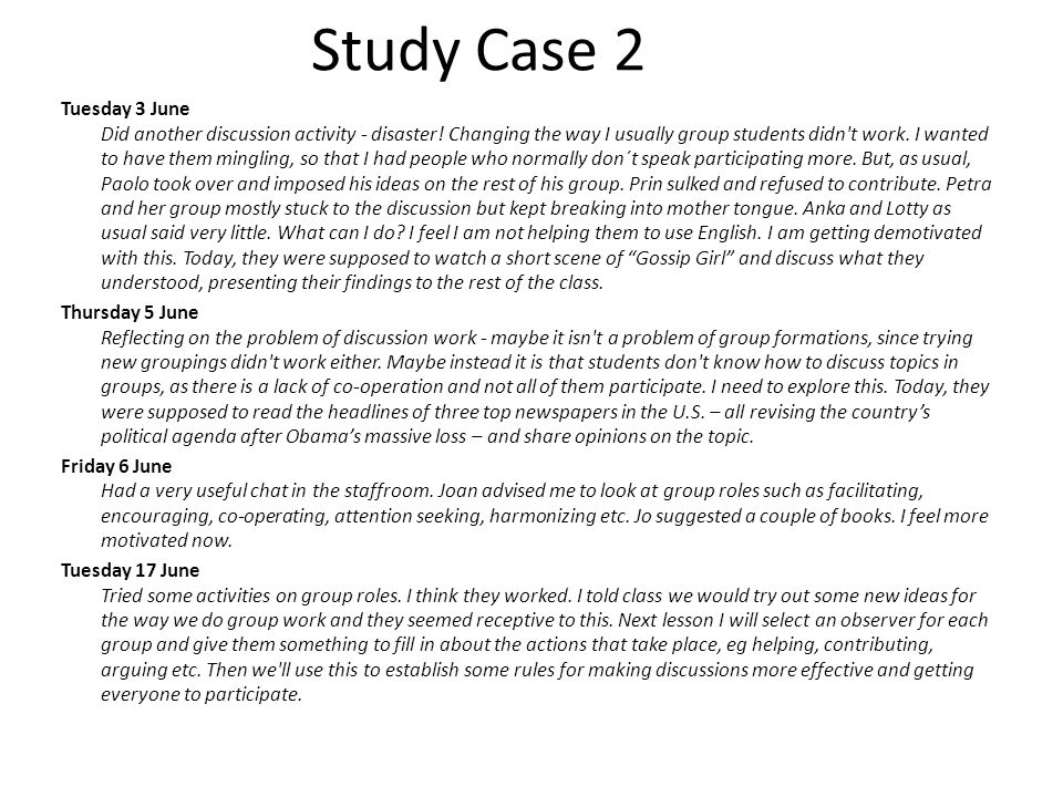 Study Case 2 Tuesday 3 June Did another discussion activity - disaster.