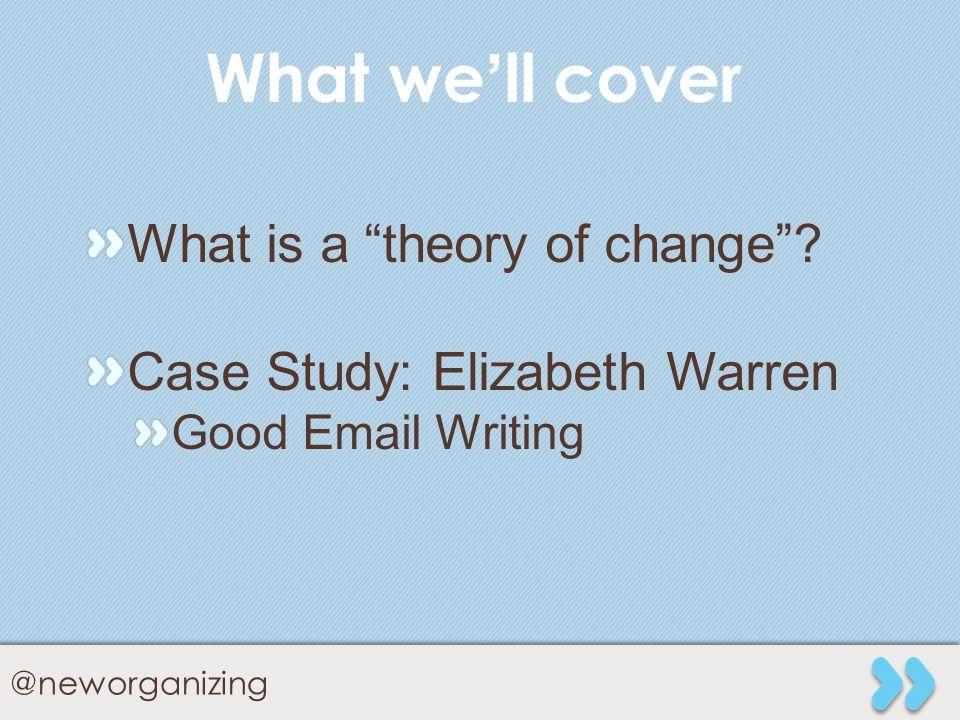 www.neworganizing.com @neworganizing Thank You To: Lola Elfman lolaelfman@gmail.com @lalalola