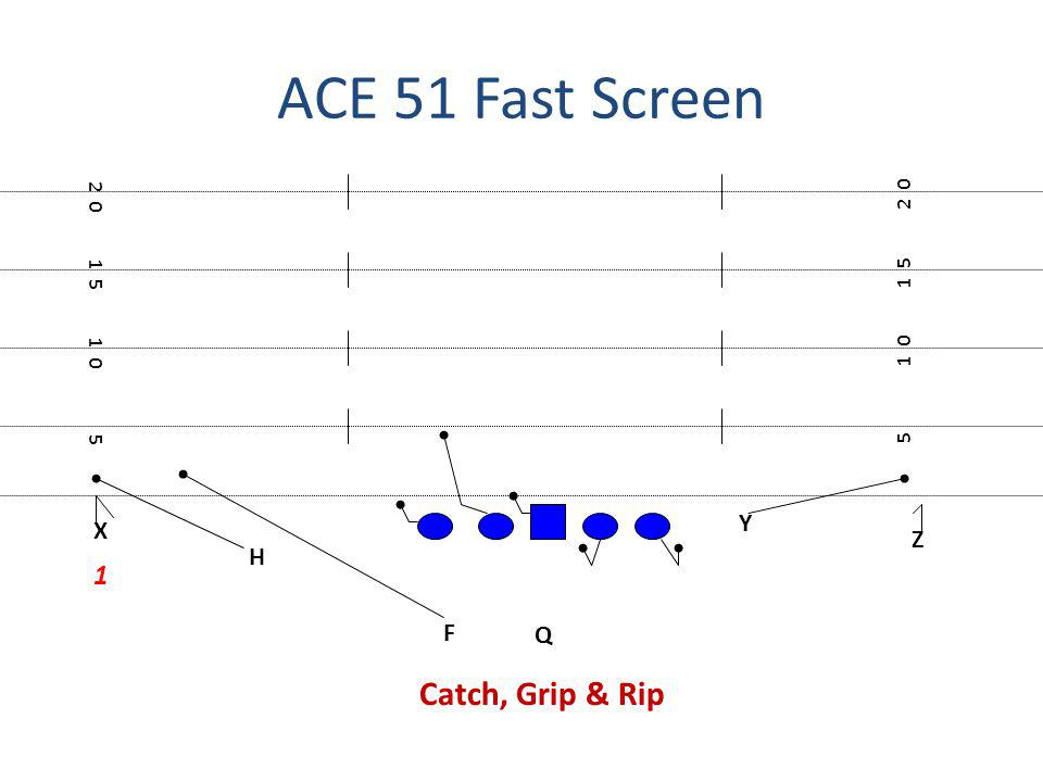 ACE 51 Fast Screen X F H Q Z Y 5 1 0 1 5 2 0 1 5 1 0 5 1 Catch, Grip & Rip