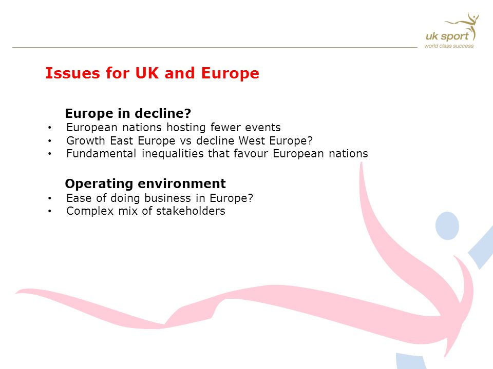 Issues for UK and Europe Europe in decline.