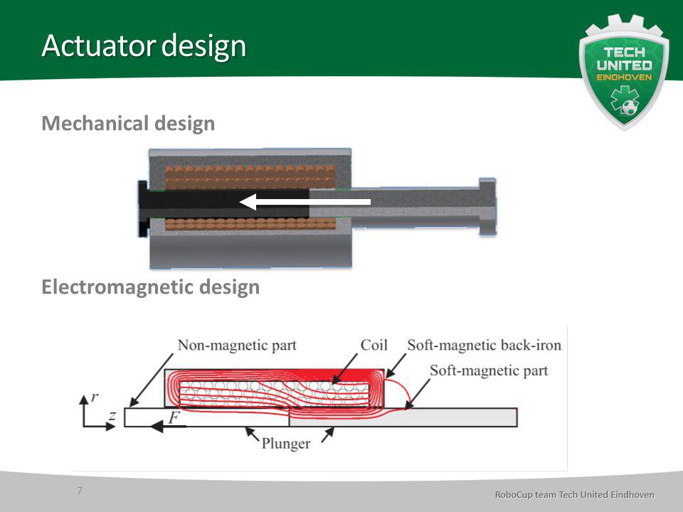 Actuator design Mechanical design Electromagnetic design 7