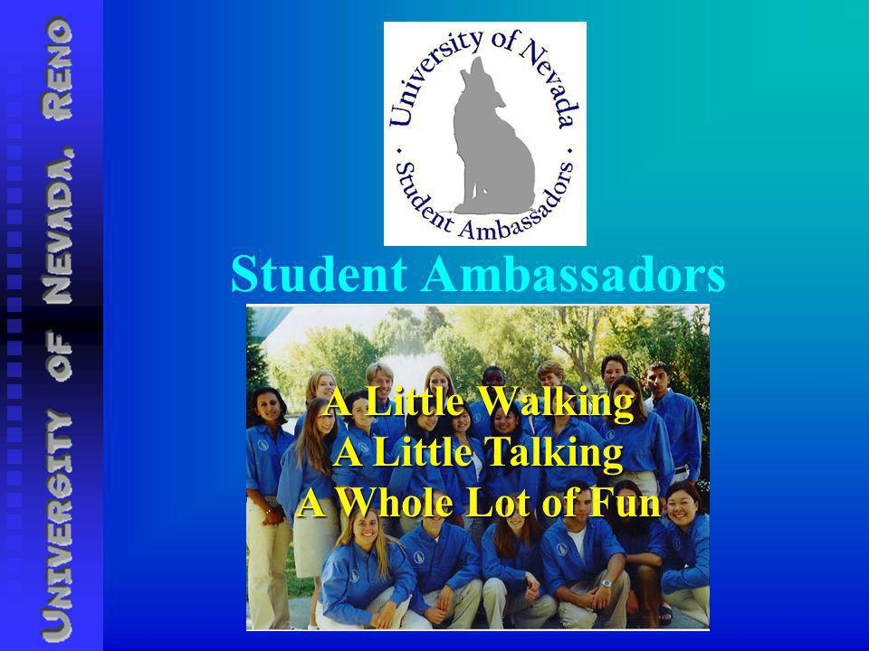 Student Ambassadors A Little Walking A Little Talking A Whole Lot of Fun