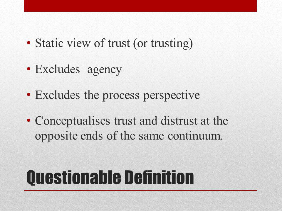 Trust & distrust as cultural resources or frames …