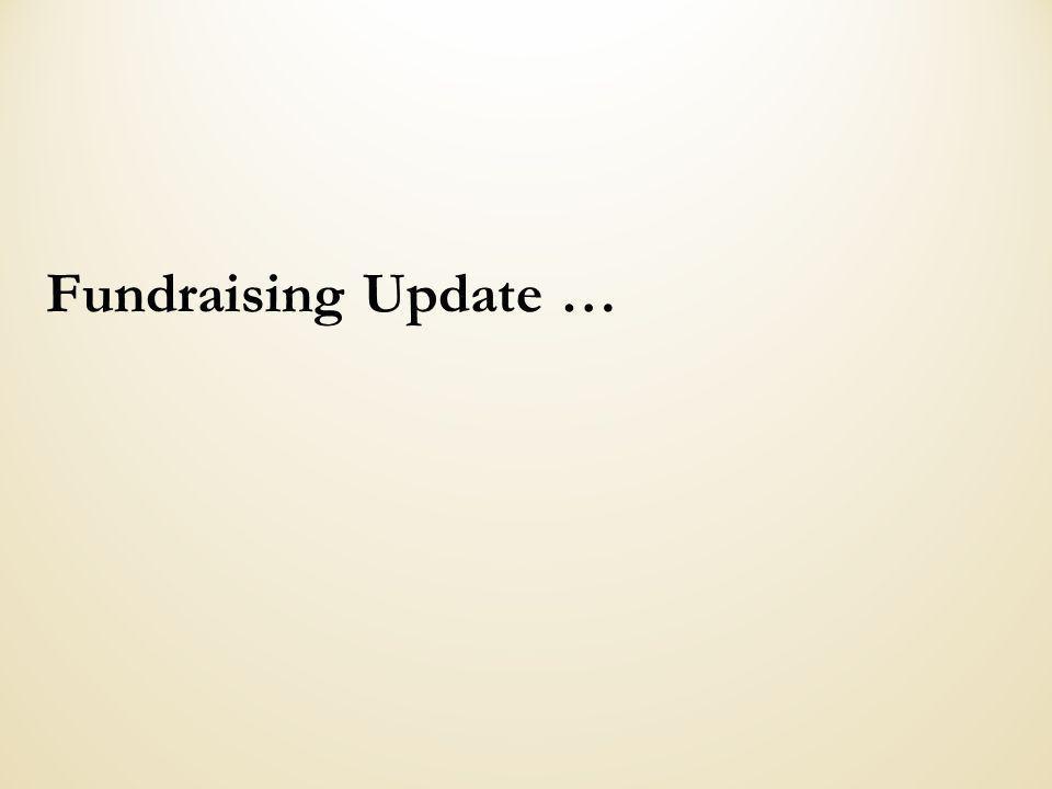 Fundraising Update …