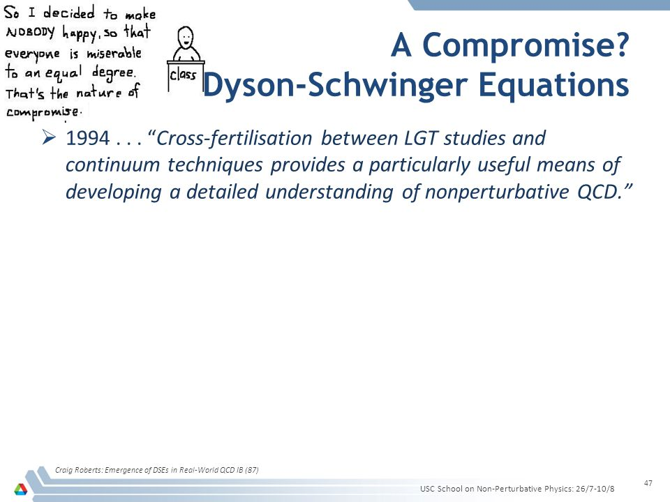 A Compromise. Dyson-Schwinger Equations 1994...