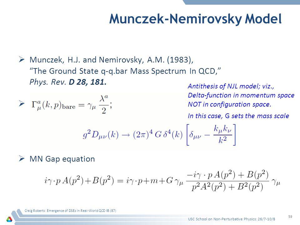 Munczek-Nemirovsky Model Munczek, H.J. and Nemirovsky, A.M.