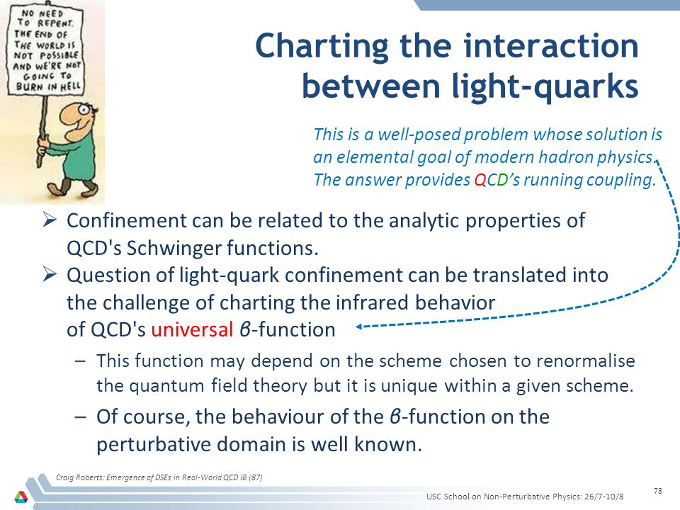 Charting the interaction between light-quarks Confinement can be related to the analytic properties of QCD's Schwinger functions. Question of light-qu