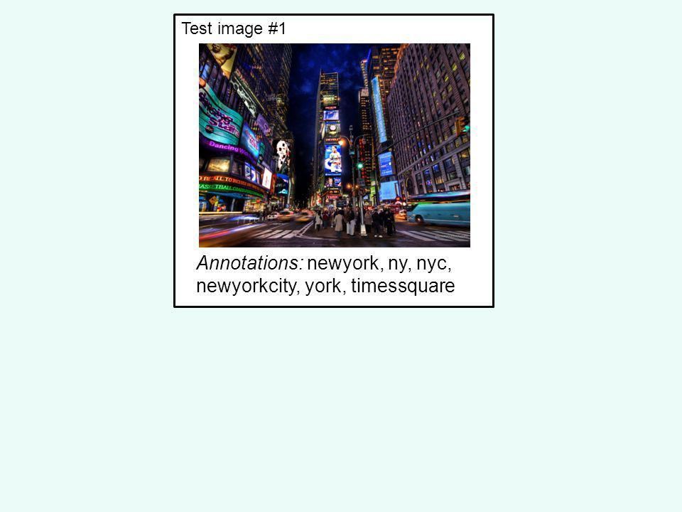 Annotations: newyork, ny, nyc, newyorkcity, york, timessquare Test image #1