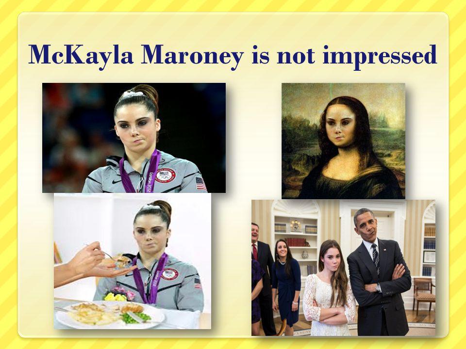 McKayla Maroney is not impressed