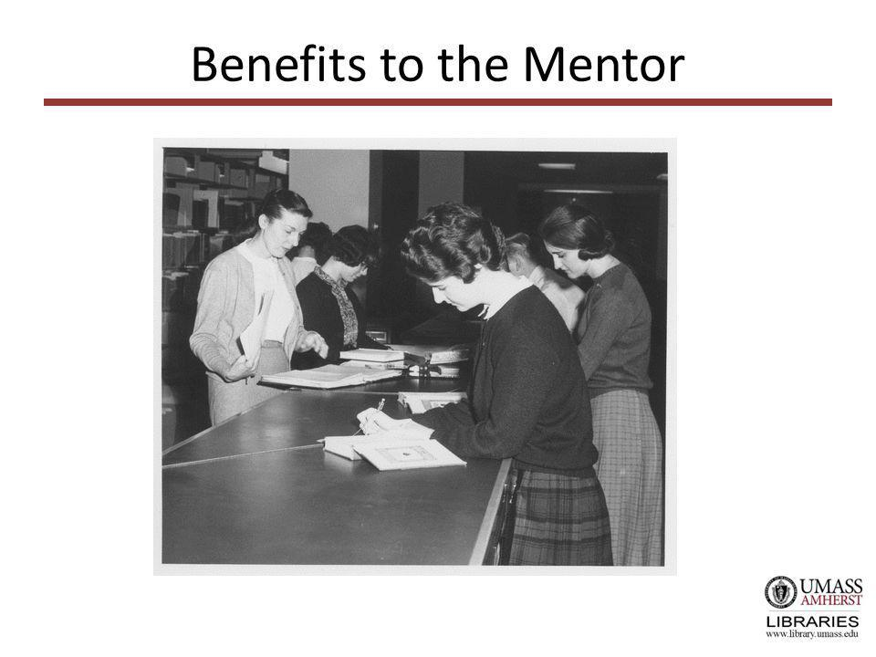 Benefits to the Mentor