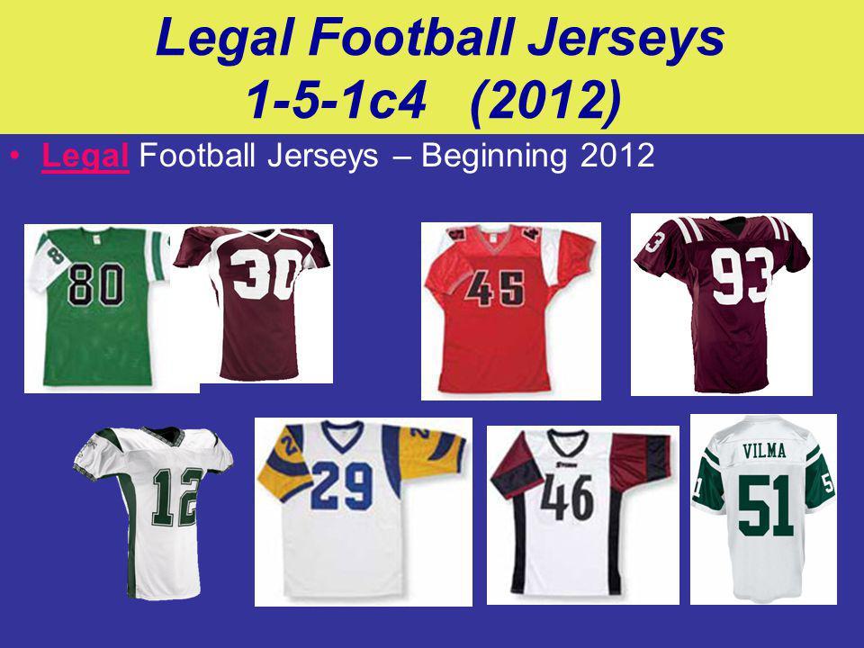 Legal Football Jerseys 1-5-1c4 (2012) Legal Football Jerseys – Beginning 2012
