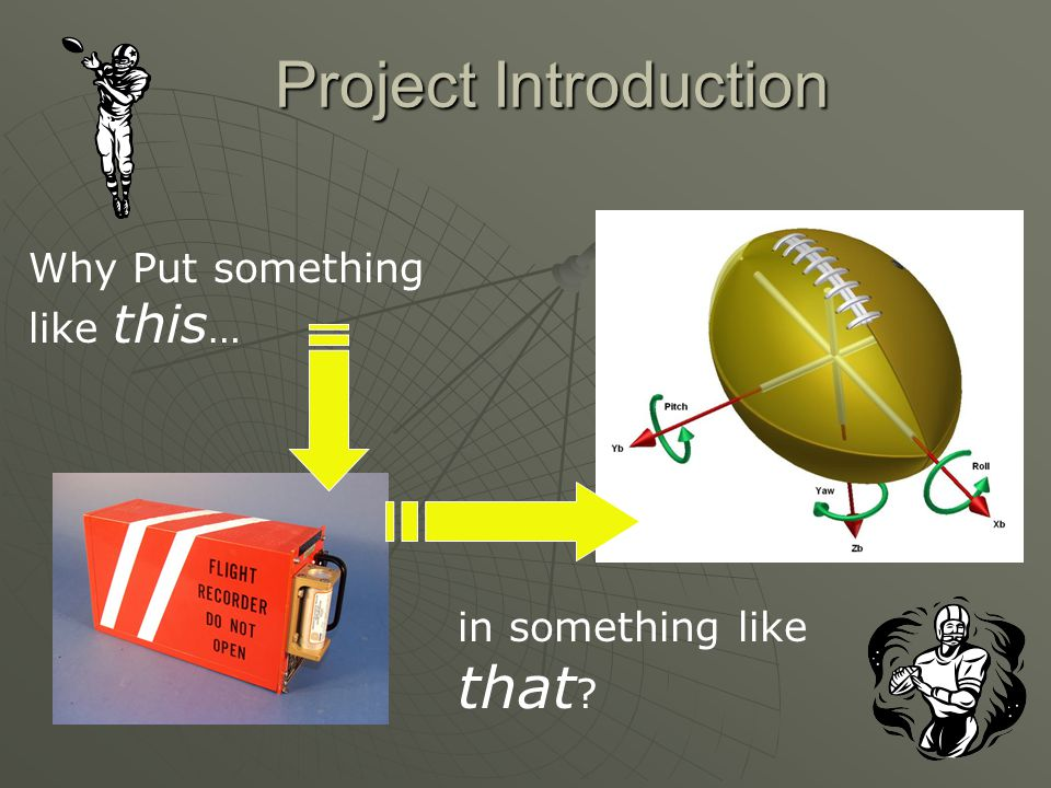 Project Introduction Why Put something like this … in something like that ?