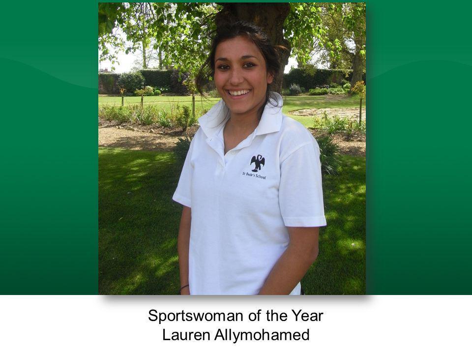 Sportswoman of the Year Lauren Allymohamed Sportswoman of the Year Lauren Allymohamed