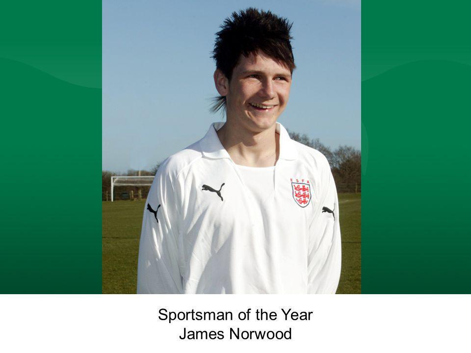 Sportsman of the Year James Norwood Sportsman of the Year James Norwood