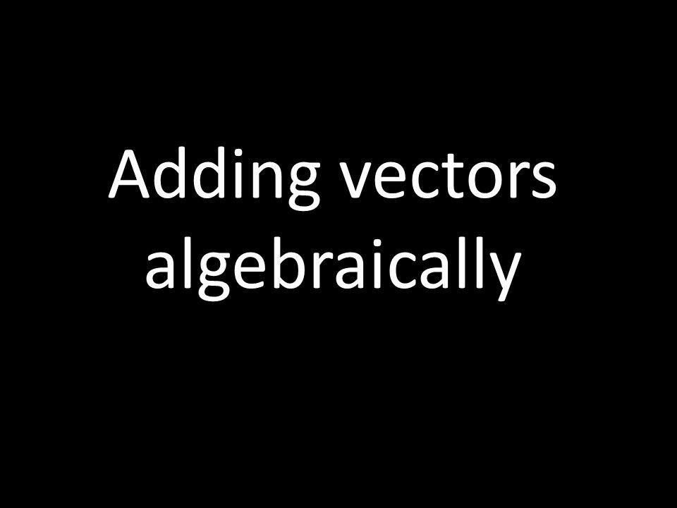 Adding vectors that are perpendicular