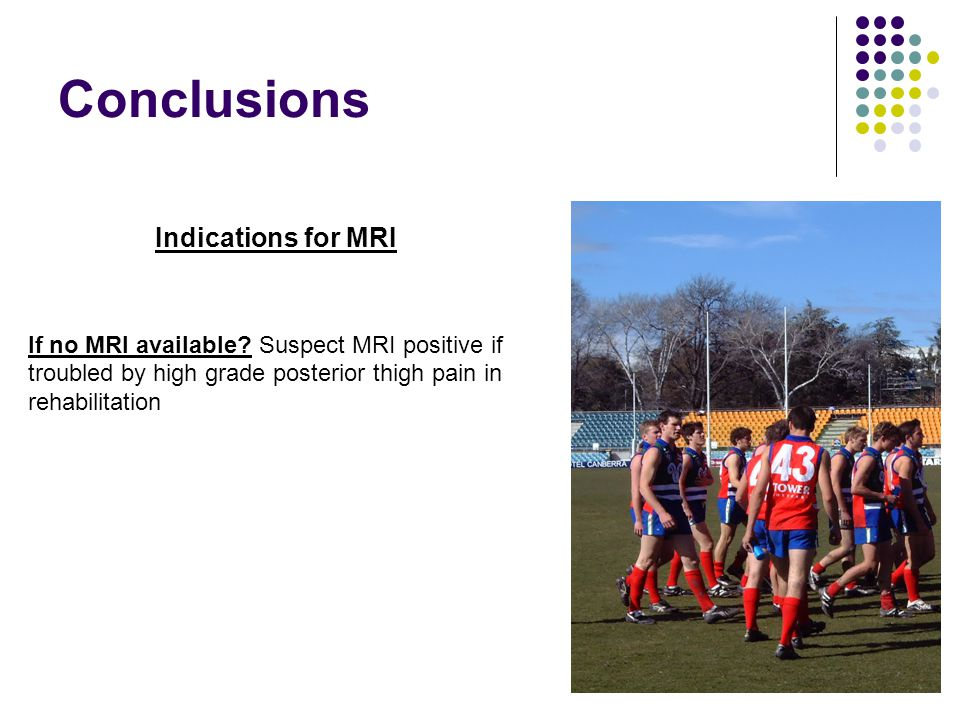 Conclusions If no MRI available.