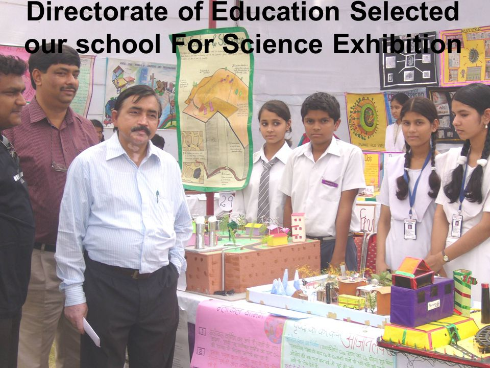 Directorate of Education Selected our school For Science Exhibition