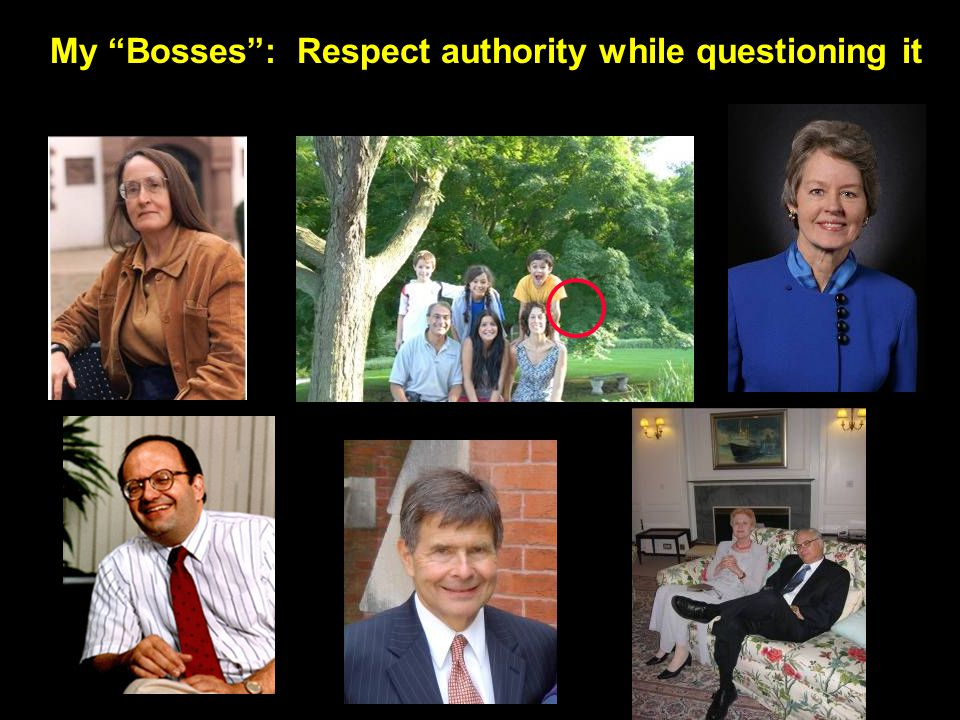 My Bosses: Respect authority while questioning it
