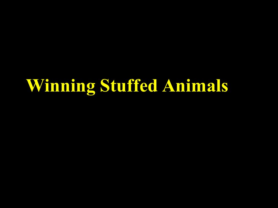 Winning Stuffed Animals