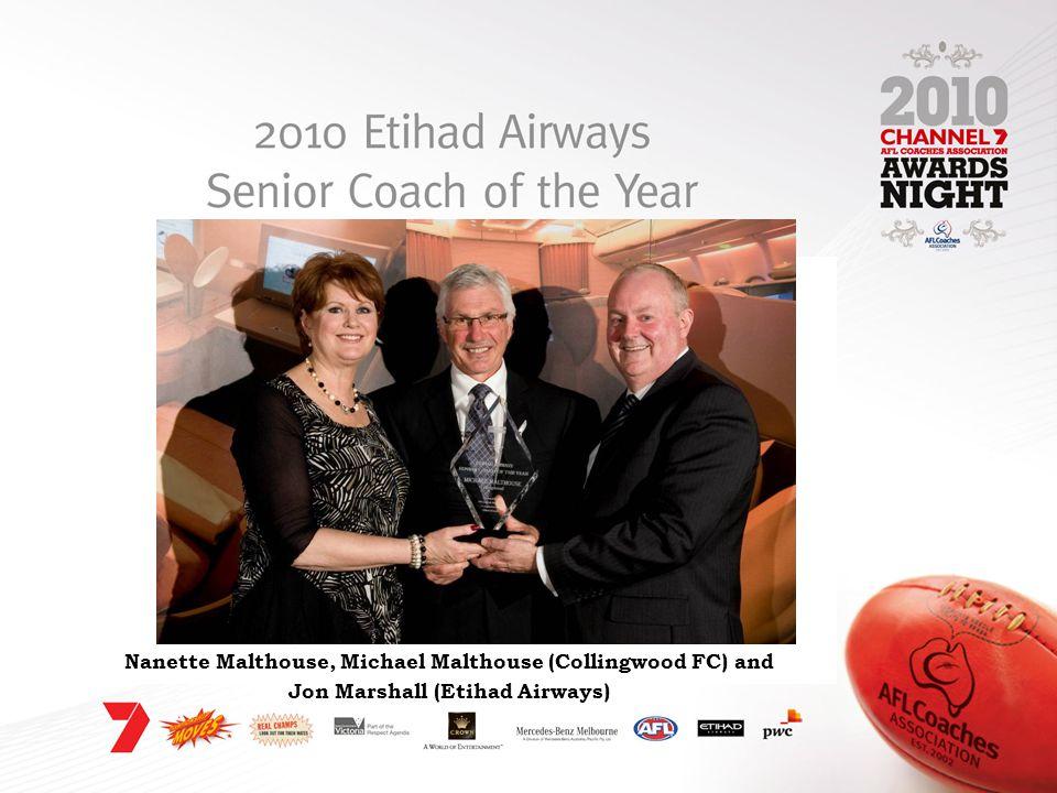 Nanette Malthouse, Michael Malthouse (Collingwood FC) and Jon Marshall (Etihad Airways)